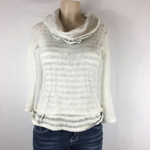 Moth Anthropologie overlay cowl neck small